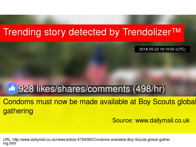 Condoms must now be made available at Boy Scouts global gathering